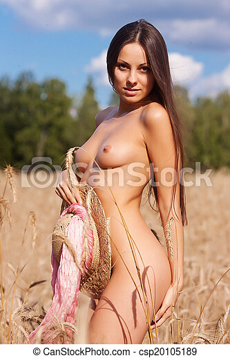 Naked Girl On The Field Csp20105189