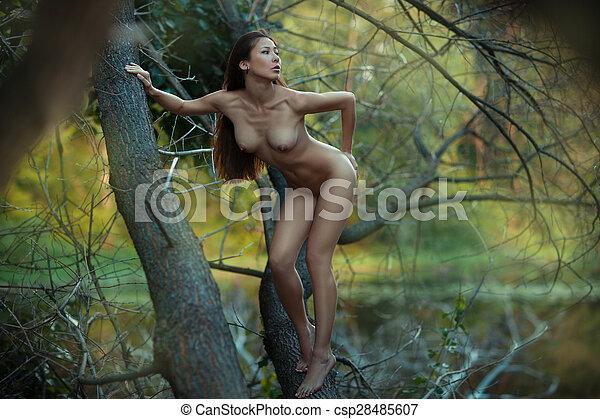 Perfect figure naked girl