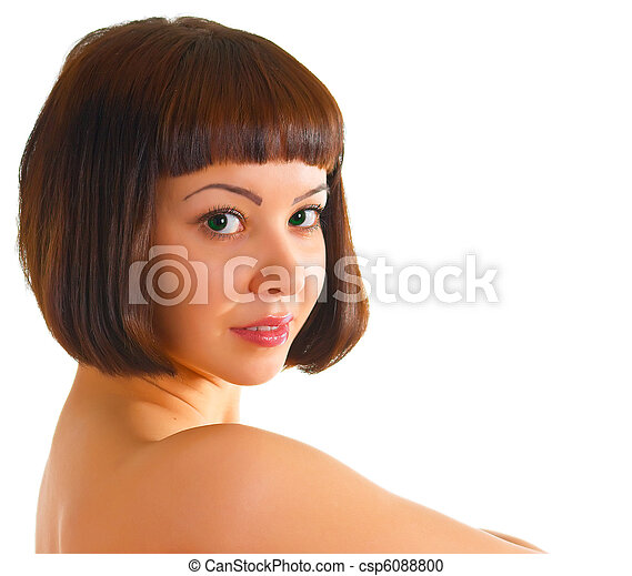 naked green-eyed women - csp6088800