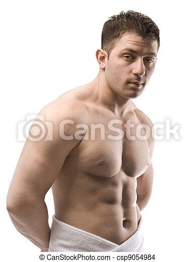 naked male torso - csp9054984