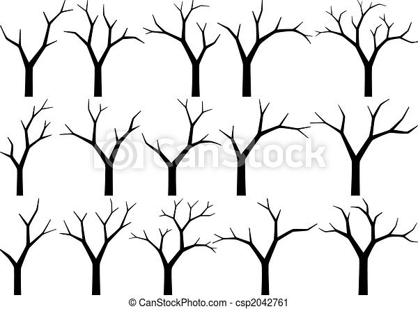 naked trees - csp2042761