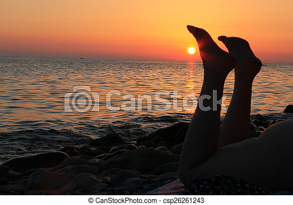 Has got! naked women at sunset are