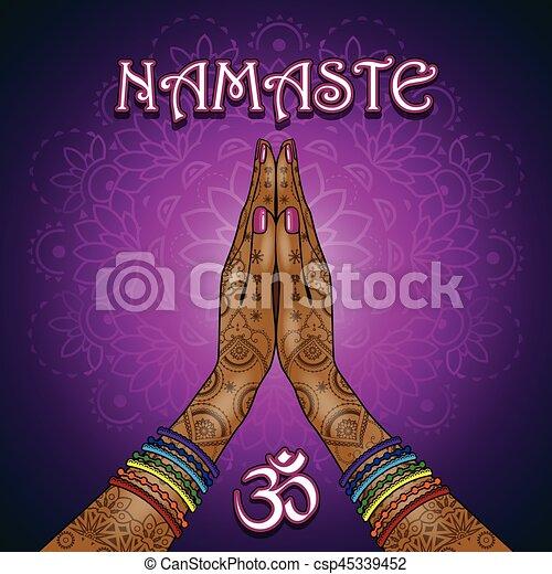 Namaste - csp45339452