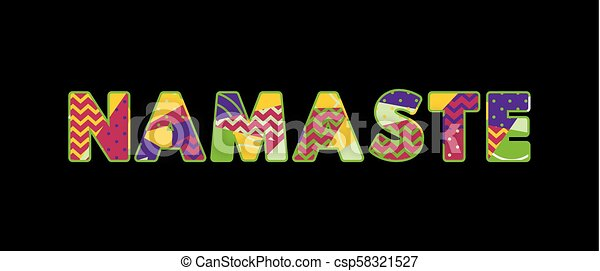 Namaste Concept Word Art Illustration - csp58321527