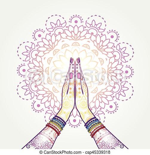 Namaste Decorated - csp45339318