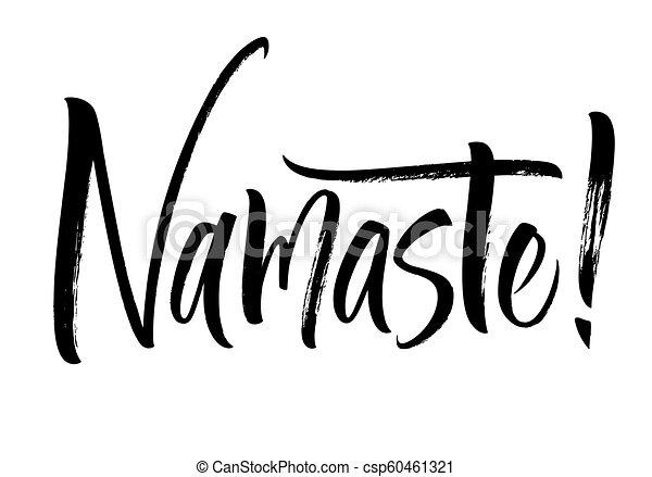 Namaste lettering - csp60461321