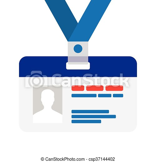 name tag for id flat design name tag badge template with shadow