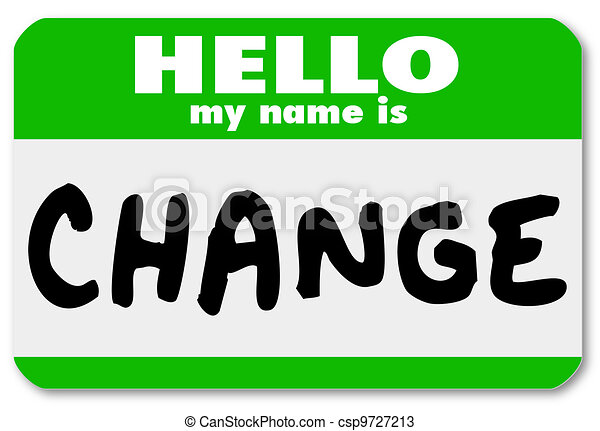Nametag Hello My Name is Change Label Sticker - csp9727213