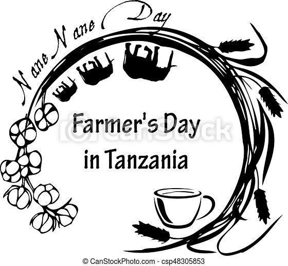 Nane Nane Day Tanzania Stamp Symbol For The National Holiday In