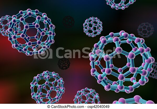 Nanoparticles on colorful background - csp42040049