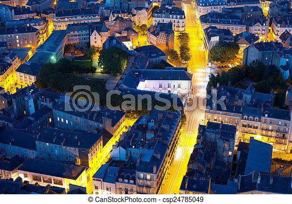Nantes at a summer night - csp24785049