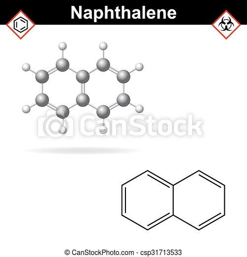 Naphthalene molecule - csp31713533