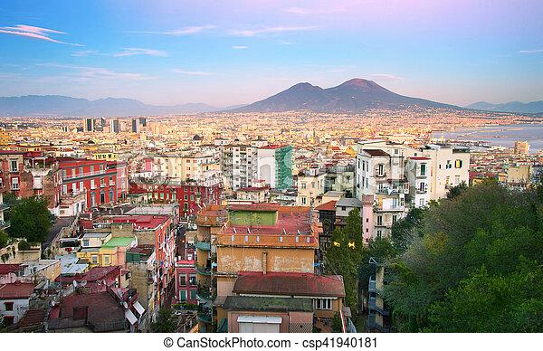 Naples cityscape, Italy - csp41940181