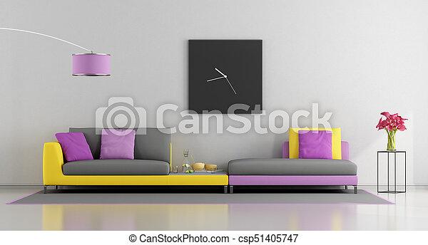 nappali, színes - csp51405747