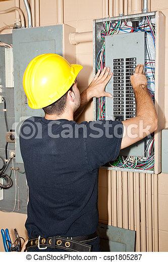 naprawa, przemysłowy, elektryczny, poduszeczka - csp1805287