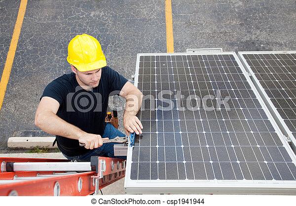 naprawa, słoneczny, copyspace, poduszeczka - csp1941944