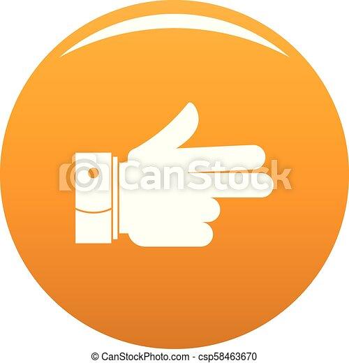 naprzód, pomarańcza, wektor, ręka, ikona - csp58463670
