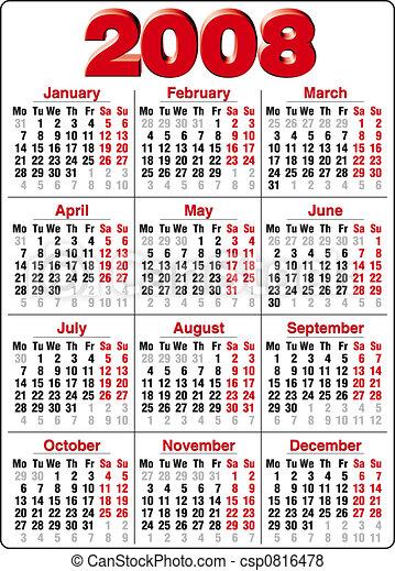 2008 naptár 2008, pontos, naptári év. 2008 naptár