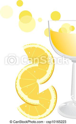 narancs, pohár, juice., töredék - csp10165223