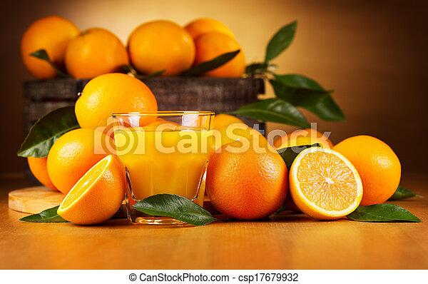 narancs, pohár, lé - csp17679932