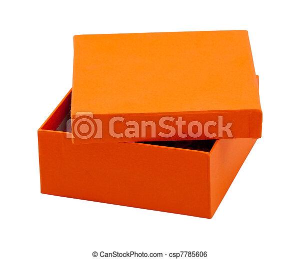 Abre la caja naranja - csp7785606