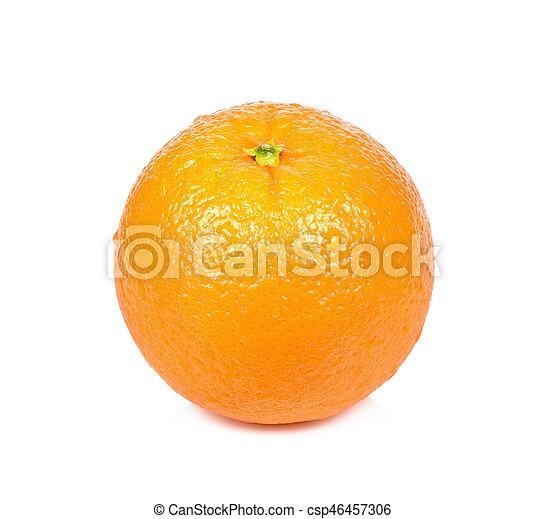 Naranja aislada en el fondo blanco - csp46457306
