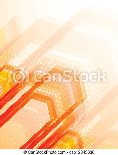Brillantes antecedentes naranjas - csp12345838