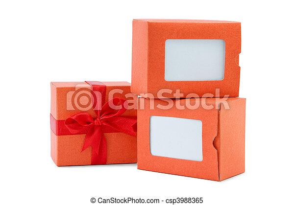 Caja naranja - csp3988365
