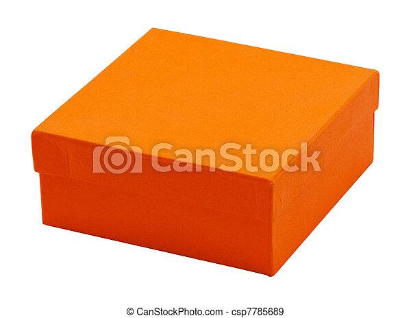 Caja naranja - csp7785689