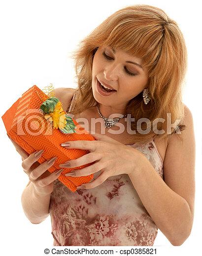 Caja naranja - csp0385821