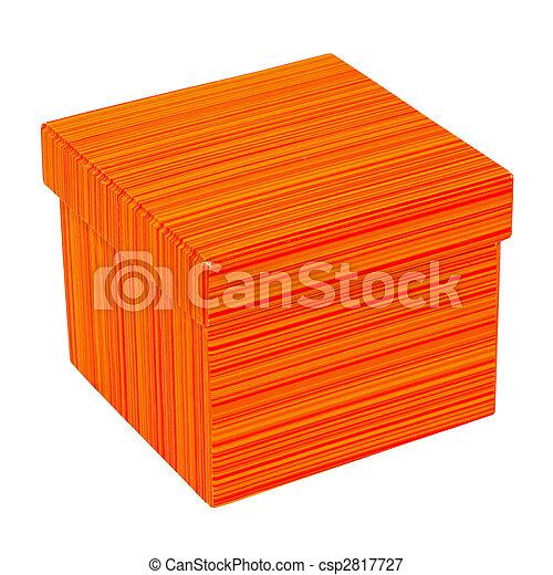Caja naranja - csp2817727