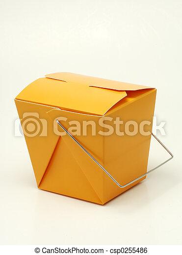 Cartón naranja - csp0255486