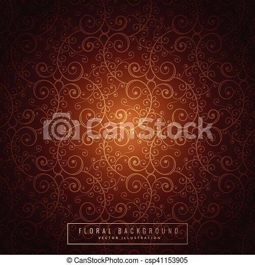 Decoración floral de naranja dorada - csp41153905
