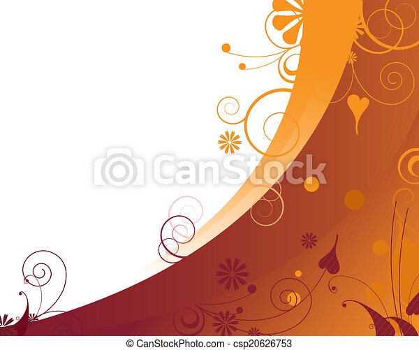 Trasfondo floral naranja - csp20626753