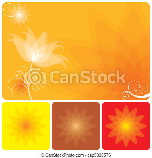 Un fondo floral naranja - csp5333575