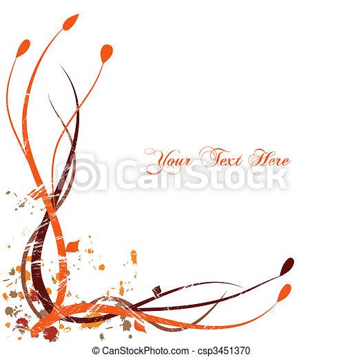 Un fondo floral naranja - csp3451370