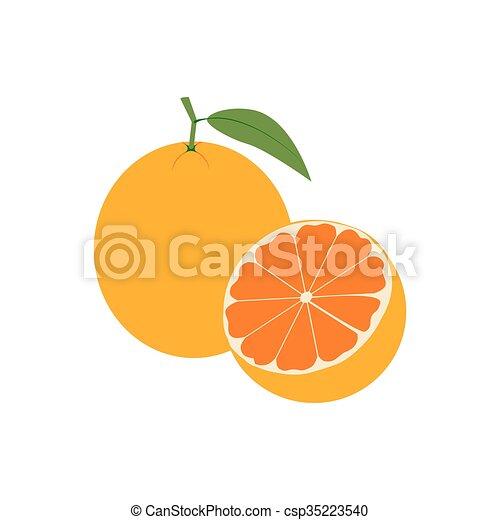 icono de fruta naranja - csp35223540