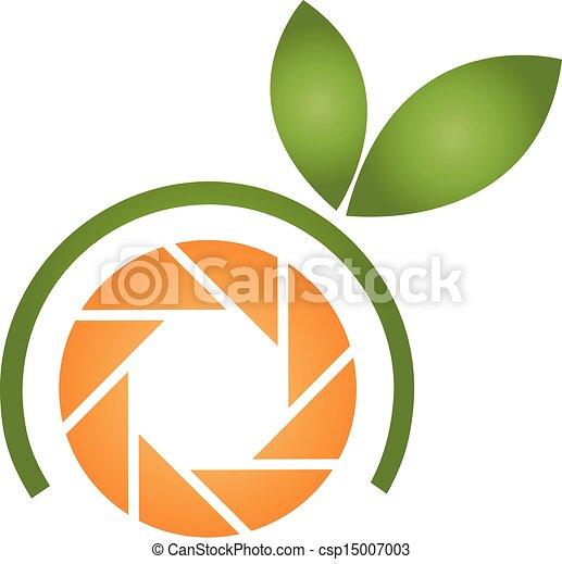 Logo de fotografía naranja - csp15007003