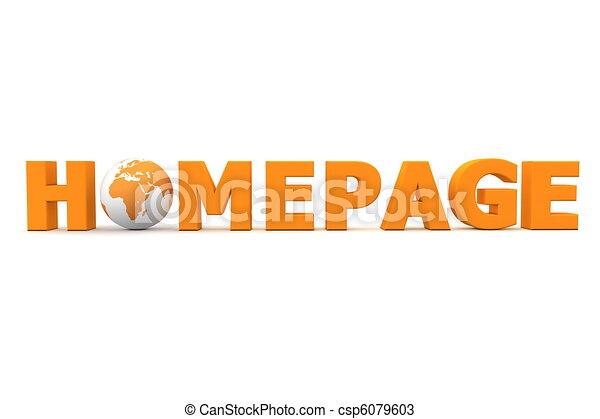 naranja, mundo, página principal - csp6079603