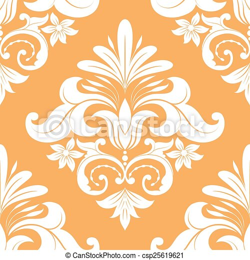 Patrón de remolino naranja - csp25619621