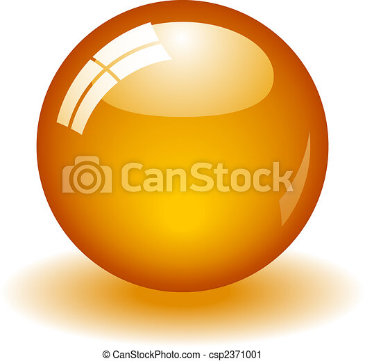 naranja, pelota, brillante - csp2371001