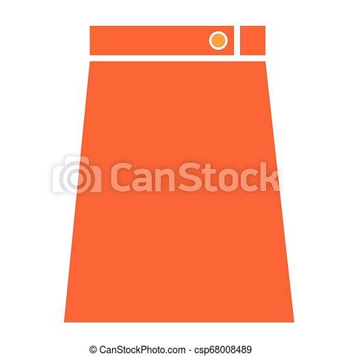 Ilustración de falda naranja plana - csp68008489
