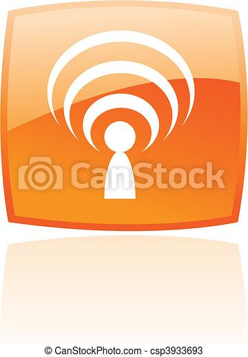 Glossy naranja podcast - csp3933693