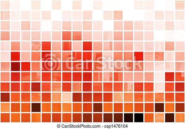 Trasfondo abstracto profesional naranja cúbico - csp1476104