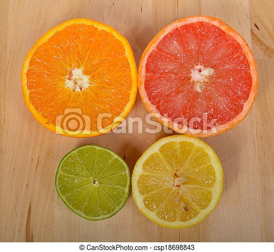Naranja, limón y pomelo - csp18698843