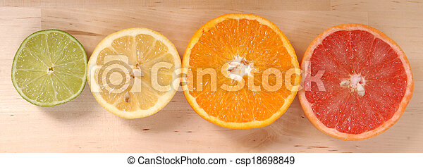 Naranja, limón y pomelo - csp18698849