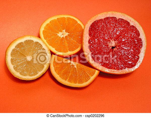 Naranja, limón, pomelo - csp0202296