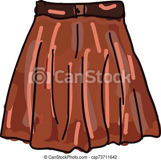 naranja, vector, falda, blanco, fondo., ilustración - csp73711642
