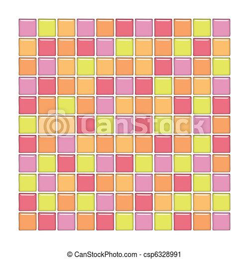 naranja vidrio azulejos rosa amarillo ilustracin de archivo - Azulejos Rosa