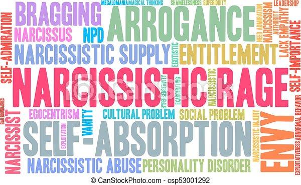 narcissistic, 単語, 雲, 激怒 - csp53001292